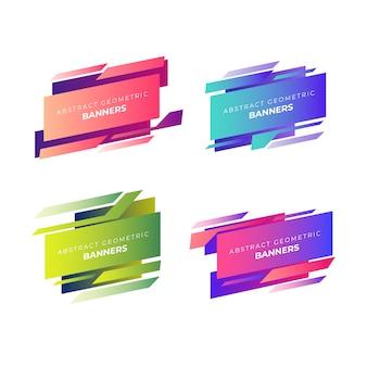 Collection de bannières géométriques abstraites