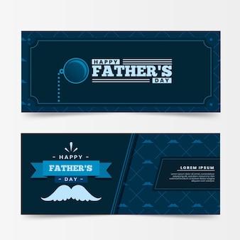 Collection de bannières horizontales pour la fête des pères