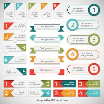 Collection de bannières infographiques