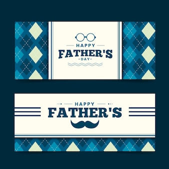 Collection de bannières pour la fête des pères
