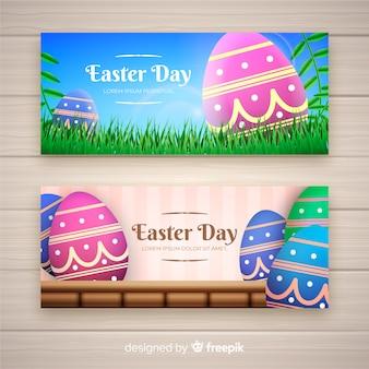 Collection de bannières pour le jour de pâques