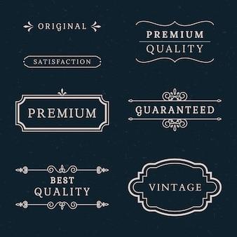 Collection de bannières de qualité supérieure