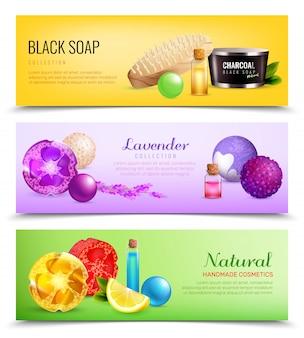 Collection de bannières de savon parfumées