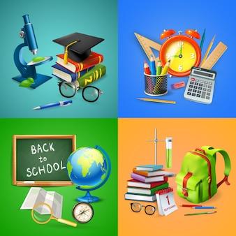 Collection de bannières scolaires