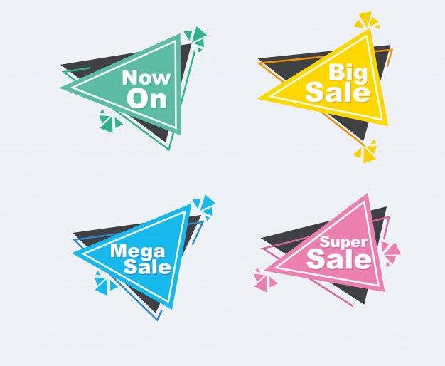 Collection de bannières de style discount vente.