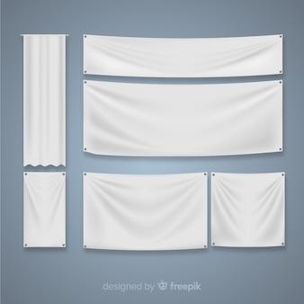 Collection de bannières textiles