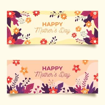 Collection de bannières avec thème de la fête des mères