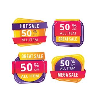 Collection de bannières de vente colorées