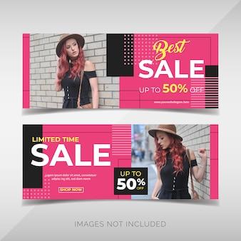 Collection de bannières de vente de mode