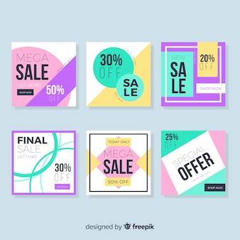 Collection de bannières de vente pour les médias sociaux