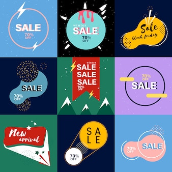 Collection de bannières de vente