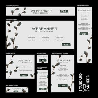 Collection de bannières web - botanique