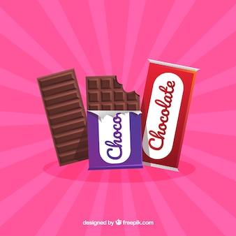 Collection de barres de chocolat