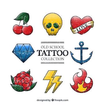 Collection basique de la vieille école de tatouage