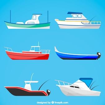 Collection de bateaux coûteux
