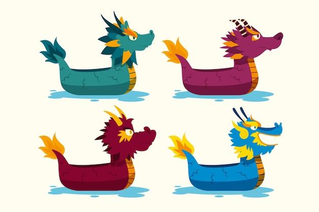 Collection de bateaux-dragons