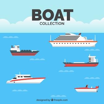 Collection de bateaux plats