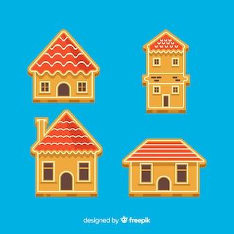 Collection de bâtiment en pain d'épice