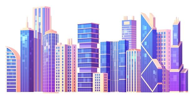 Collection de bâtiments de ville de dessin animé
