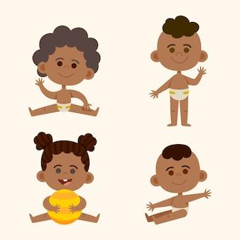 Collection de bébé noir de dessin animé