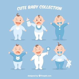 Collection de bébés dans la collection dans le style plat