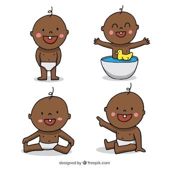 Collection de bébés dans différentes postures