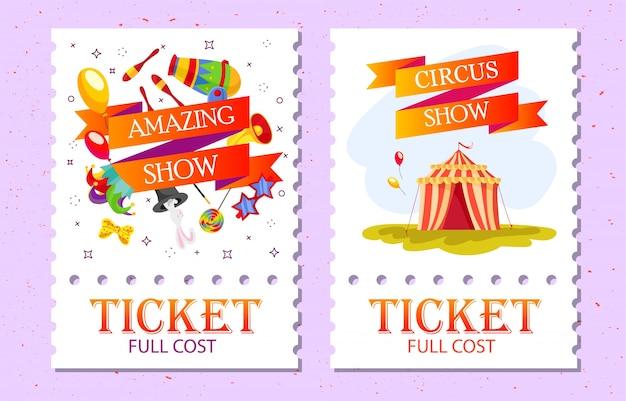 Collection de billets circus