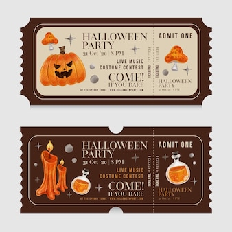 Collection de billets halloween