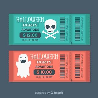 Collection de billets pour la fête d'halloween
