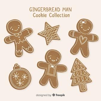 Collection de biscuits bonhomme en pain d'épice