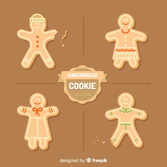 Collection de biscuits en pain d'épice