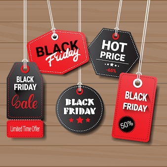 Collection de black friday tags ou étiquettes