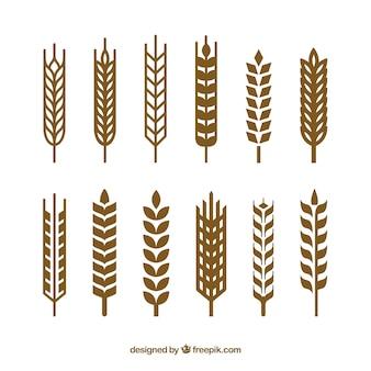 Collection de blé silhouette