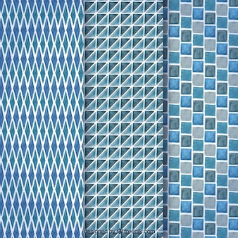 Collection bleue de motifs gemmiques
