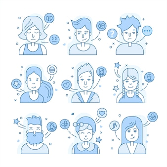Collection blue avatar