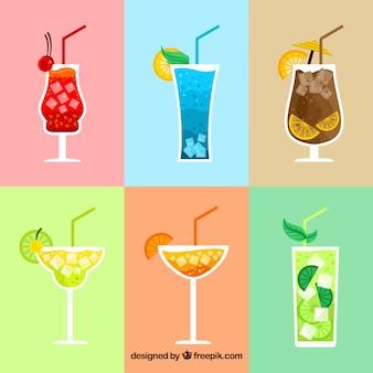 Collection de boissons exotiques