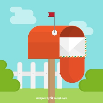 Collection de boîtes aux lettres d'époque en design plat