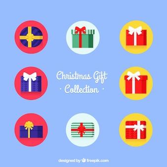 Collection de boîtes-cadeaux au design plat