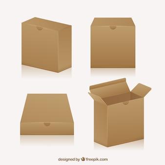 Collection de boîtes en carton à l'expédition