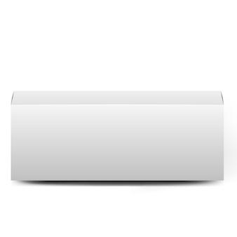 Collection de boîtes ouvertes. ensemble de longues boîtes en carton blanc sur fond blanc. ensemble de boîtes d'emballage de produits vierges. boîte en carton réaliste, conteneur, emballage.