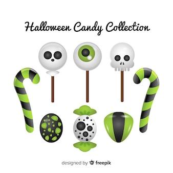 Collection de bonbons d'halloween
