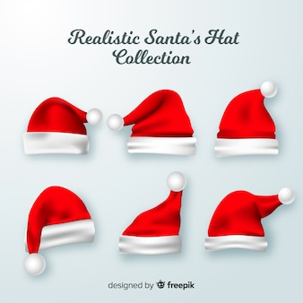 Collection de bonnet de noel réaliste
