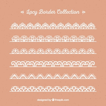 Collection de bordure en dentelle