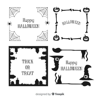 Collection de bordure d'halloween