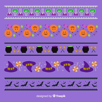 Collection de bordure d'halloween