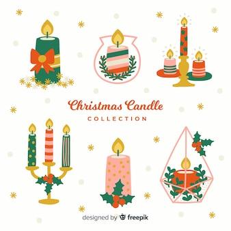 Collection de bougies de noël décorées