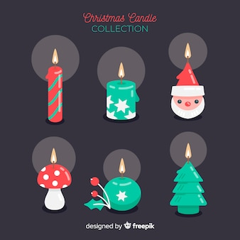 Collection de bougies de noël de différentes formes