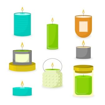 Collection de bougies parfumées dessinées