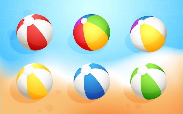 Collection de boules d'été colorées