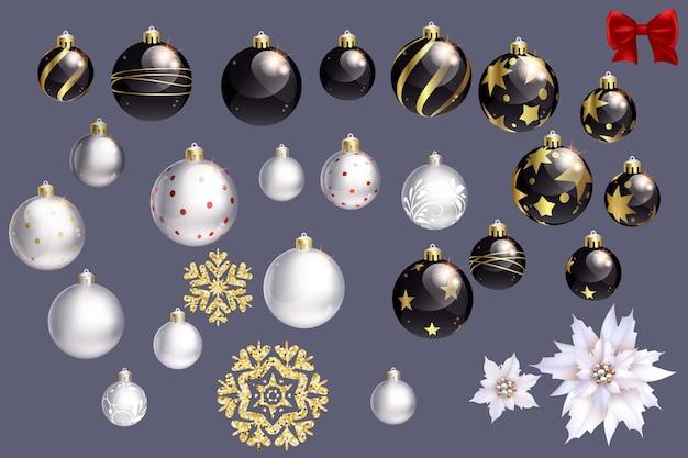Collection de boules de noël